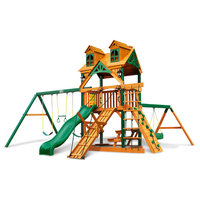 Malibu Frontier Swing Set With Timber Shieldwith
