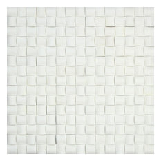 Thassos 3-D Small Bread Mosaic Tile, Polished, 10 SqFt