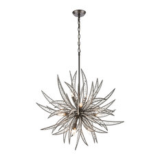 Naples 11-Light Pendant, Dark Graphite With Clear Crystal