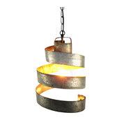 Wine Barrel Ring Pendant Light, Large Open