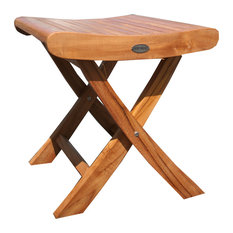 Teak Wood Italy Footstool / Side Table