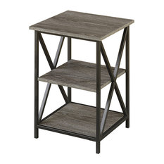 Convenience Concepts   Tucson 3 Tier End Table, Weathered Gray   Side Tables  And