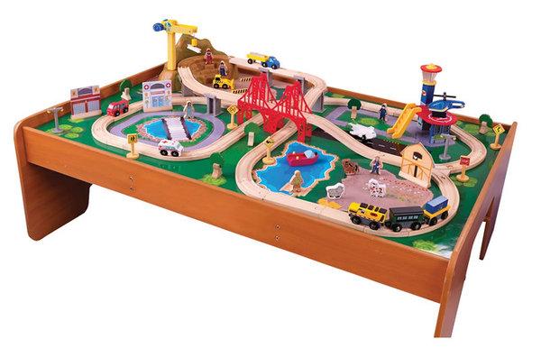 Kidkraft Home Indoor Kids Playroom Ride Around Town Train Set With ...