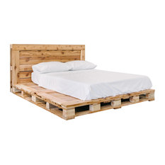 Pallet Bedz Company - Pallet Bed Platfrom Frame and Headboard, Queen - Platform Beds