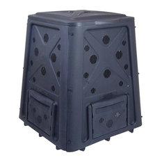 Redmon - Green Culture Compost Bin Plus The Original Wingdigger Combo Set, Black - Compost Bins
