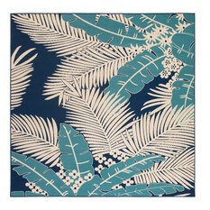 Marina Outdoor Rug in Blue And Blue