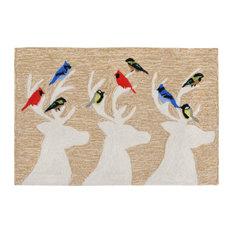"Liora Manne Frontporch Deer and Friends Indoor/Outdoor Rug, Natural, 20""x30"""