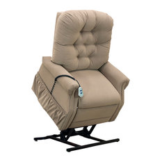 Med Lift Petite Two-Way Reclining Lift Chair, Aaron, Light Brown
