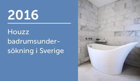 Houzz badrumsundersökning i Sverige 2016