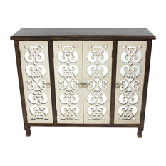 Traditional Accent Wooden Cabinet with 4 Doors by HomeRoots