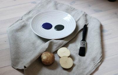 Fai da Te: Usa le Patate Come Timbri per il Restyling dei Cuscini