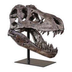 Tyrannosaurus Rex Head Sculpture, Dinosaur Decor