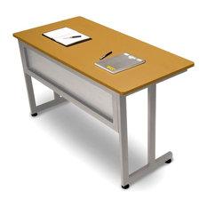 OFM Inc   Steel Frame Training U0026 Utility Table W Privacy Panel, Graphite U0026  Black