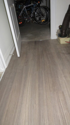 last fall i installed all by myself no help from hubby the costco vinyl plank flooring in my basement craft room i am reasonably handy but it wasnu0027t