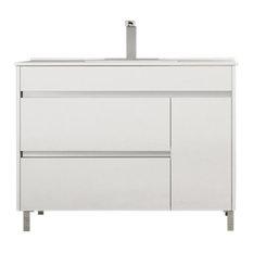 "TEGLER,SL - Hawthorne Caprera Bathroom Vanity, White, 32"" - Bathroom Vanity Units & Sink Cabinets"