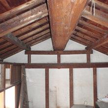 古い屋根を再利用