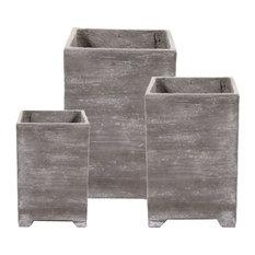 Out Concrete Plant Pots, 3-Piece Set