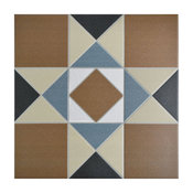 "13""x13"" Narcissus Ceramic Floor/Wall Tiles, Set of 10, Cotto"