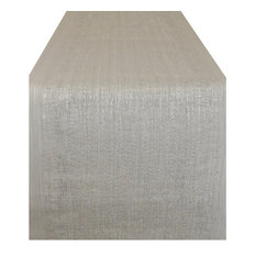 Design Imports - Space Dyed Tablerunner, Gray - Table Runners