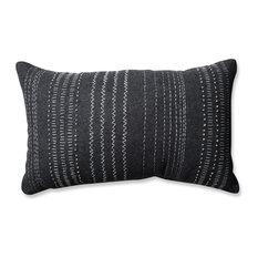 Pillow Perfect Tribal Stitches Rectangular Throw Pillow, Cream Gray, Dark Gray