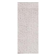 Brick Wall Panel, White, 96x240 cm
