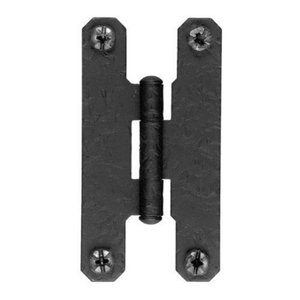Black Cast Iron H-Style Hinges