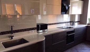 Современная кухня для современных заказчиков, фасады МДФ глянец и CLEAF