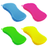 Kuhn Rikon Stay Clean Scrubber Sponge, 4-Piece Set, Neon Colors