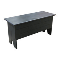 Wooden Storage Bench, Sage, 3'