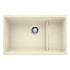"""Blanco 519454 18.13""""x28.8"""" Granite Single Undermount Kitchen Sink, Biscuit"""
