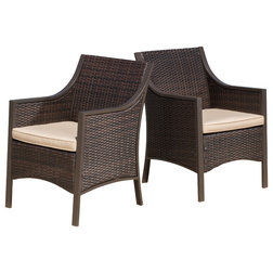 Contemporary Outdoor Dining Chairs By GDFStudio