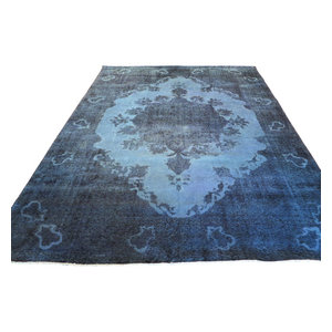 10x12 Hand Knotted Silver Teal Overdyed Persian Tabrez Oriental Rug Traditional Area Rugs By Oriental Rug Galaxy