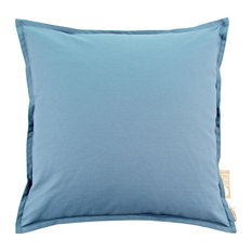 """Solid Accent, Throw Pillow Cover, 24""""x24"""", Denim"""