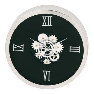 Brugges Exposed Gear Wall Clock, Black
