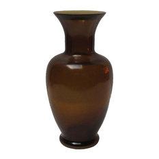 Chinese Peking Glass Smoke Quartz Vase