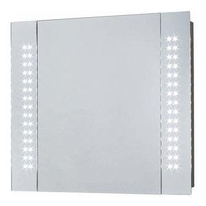 Bathroom Mirror Cabinet with Led Lights and 2 Internal Shelves, Modern Design, K
