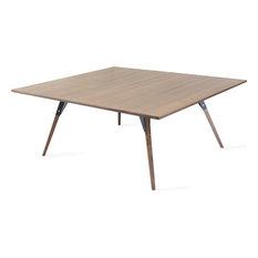 Clarke Coffee Table Rectangle, Black, Large, Walnut