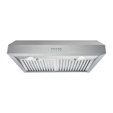 "Cosmo 30"" 380 CFM Under Cabinet Range Hood With Permanent Filters and LED Light"