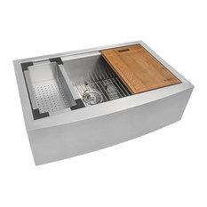 Ruvati 33-Inch Apron-front Workstation Farmhouse Single Bowl Kitchen Sink