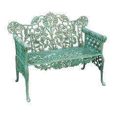 Liberty Vintage Garden Bench, Antique Green