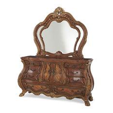 AICO Michael Amini Chateau Beauvais Dresser and Mirror