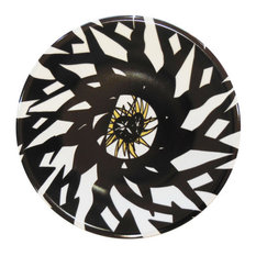 Geometric Monochrome Porcelain Plate, Large