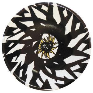 Geometric Monochrome Porcelain Plate, Large