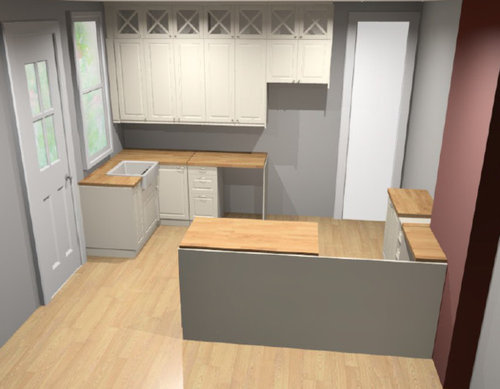15 Inch Cabinets Above The Fridge A