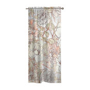 Laural Home Blushing Pale Pink Peonies Window Curtain