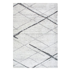 nuLOOM Thigpen Striped Contemporary Area Rug, Gray, 10'x14'