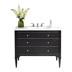 """Fairmont Designs Charlottesville 42"""" Single Vanity Black, Cabinet Only, Top Not"""