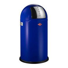 Wesco Pushboy Bin, 50 Litres, Blue
