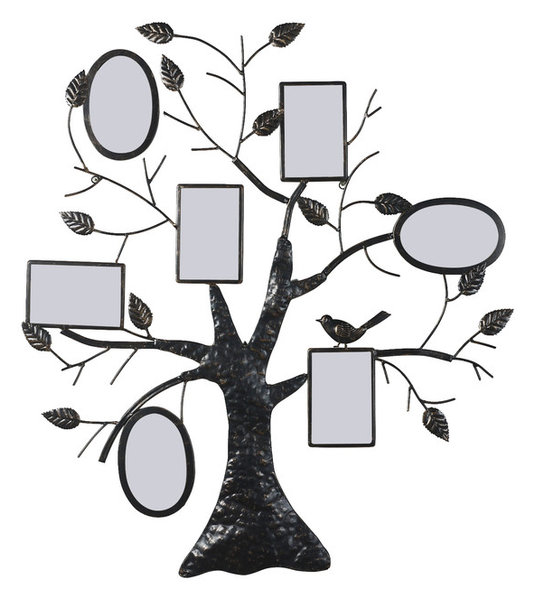 Collage Bronze Iron Metal Wall Hanging Family Tree Photo Frame ...