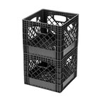 Black Classic Milk Crate, Set of 2